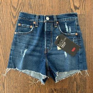 Levi's Sz 24 Ribcage Denim Shorts